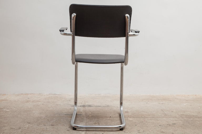Late 20th Century Set of Seven Tubax Cantilever Armchairs, Belgium For Sale