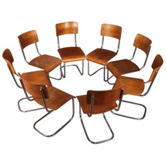 Set of Eight Tubular Chairs