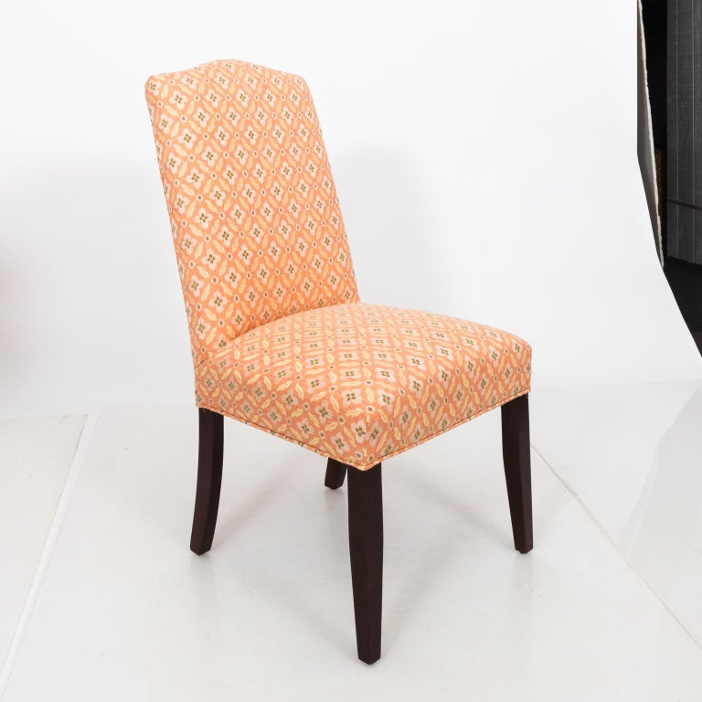 Set of Eight Upholstered Dining Chairs For Sale 4