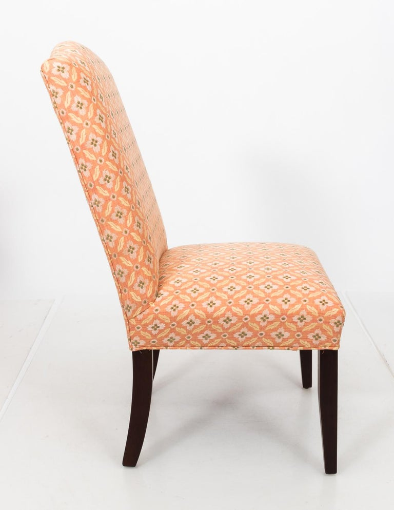 Set of Eight Upholstered Dining Chairs For Sale 5