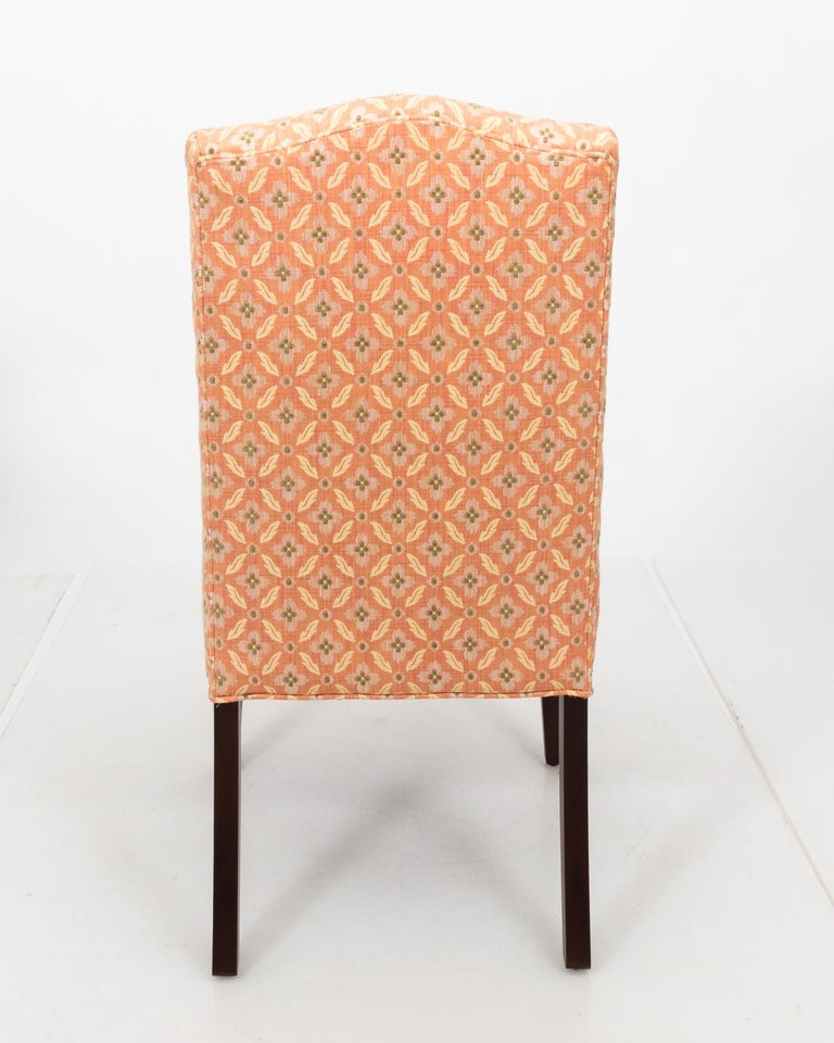 Set of Eight Upholstered Dining Chairs In Good Condition For Sale In Stamford, CT