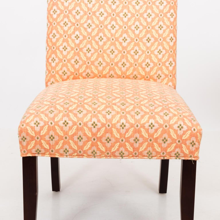 Set of Eight Upholstered Dining Chairs For Sale 3
