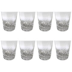 Set of Eight Val St. Lambert Gevaert Arlene Double Old Fashioned Glasses