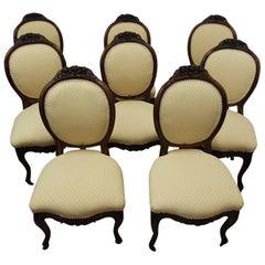 Set of Eight Victorian Mahogany Dining Chairs, circa 1870