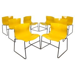 """Set of Eight Vignelli for Knoll Stacking """"Handkerchief"""" Chairs, Circa 1980s"""