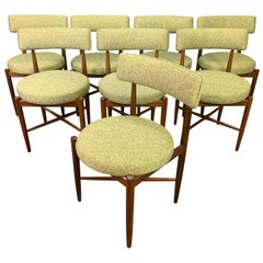Set of Eight Vintage British Mid-Century Modern Teak Dining Chairs by G Plan