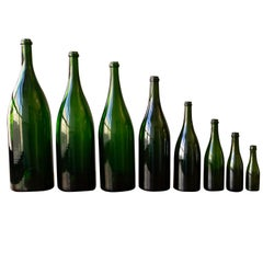 Set of Eight Vintage French Champagne Bottles