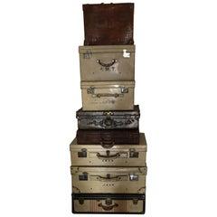 Set of Eight Vintage Luggage