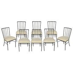 Set of Eight Vintage Salterini Chairs