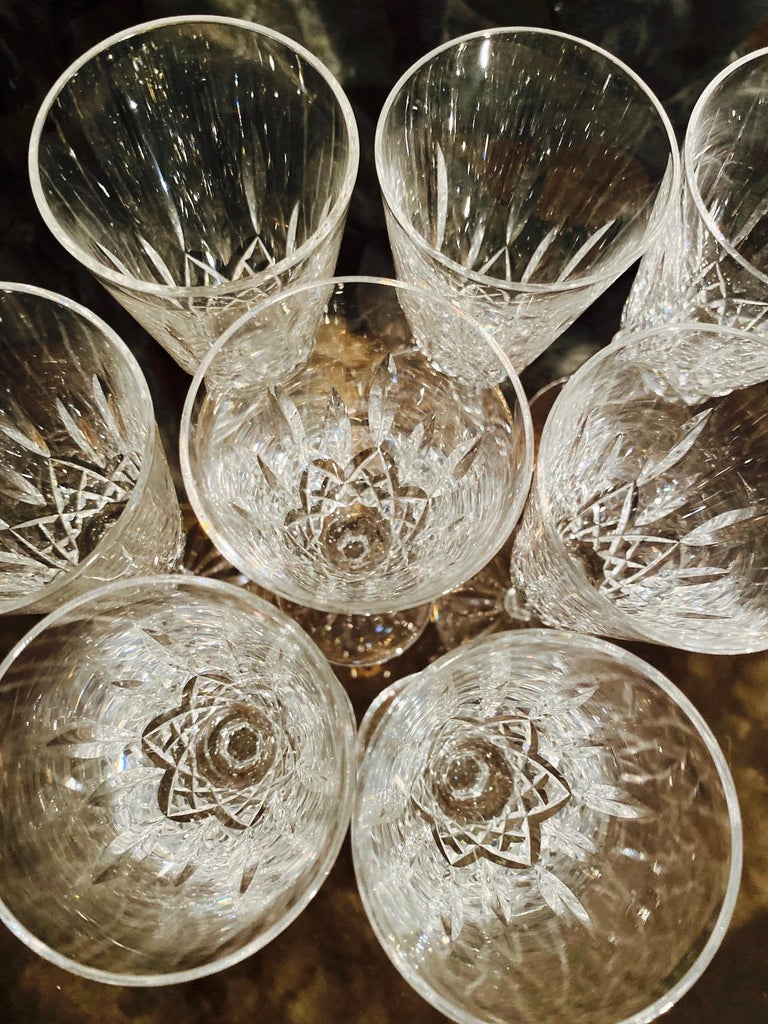 Set of Eight Vintage Waterford Crystal Lismore Champagne Flutes, Germany For Sale 1