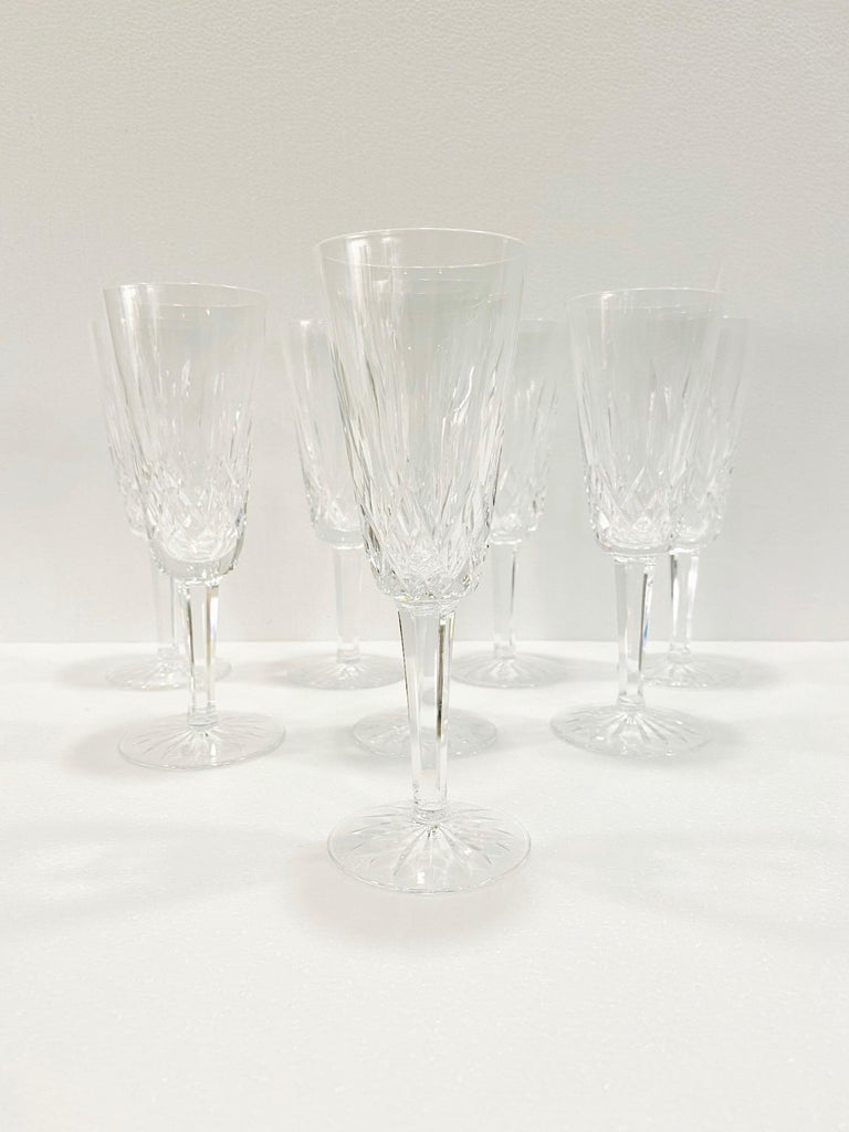 Set of Eight Vintage Waterford Crystal Lismore Champagne Flutes, Germany For Sale 3