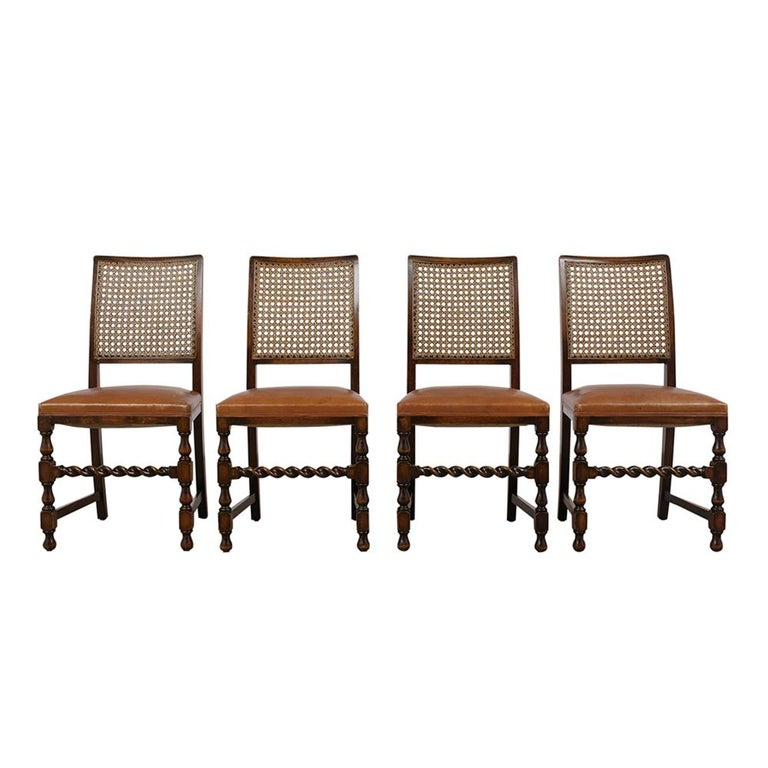 Excellent Set Of Eight Walnut Jacobean Style Dining Chairs At 1Stdibs Bralicious Painted Fabric Chair Ideas Braliciousco