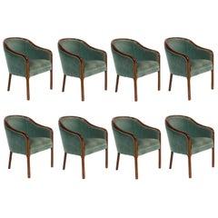 Set of Eight Ward Bennett for Brickell Associates Armchairs