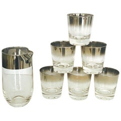 Set of Eight Whiskey Barware Glasses and Martini Shaker by Dorothy Thorpe, 1960s