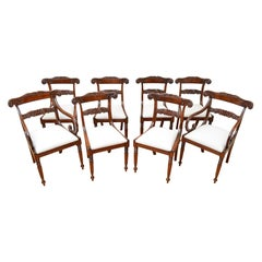 Set of Eight William IV Dining Mahogany Dining Chairs, circa 1830
