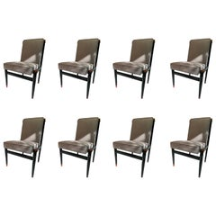 """Set of Eight """"Willow"""" Chairs by Frank Kyle"""