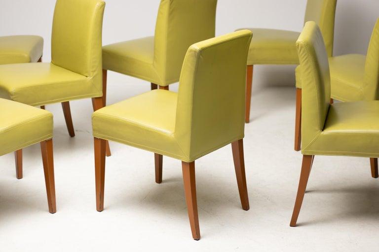 Austrian Set of Eight Wittmann Berlin Chairs For Sale