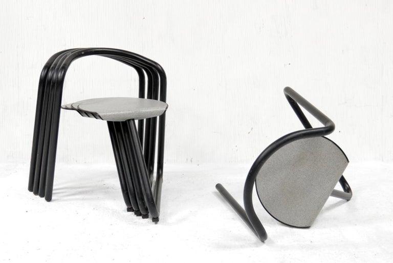 Post-Modern Set of Eighteen Erik Magnussen 'Magnus' Chairs for Paustian Stackable For Sale