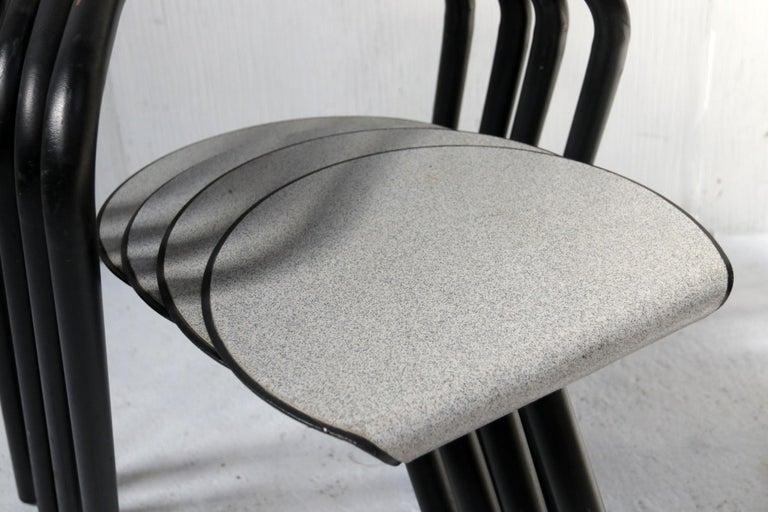 Set of Eighteen Erik Magnussen 'Magnus' Chairs for Paustian Stackable In Good Condition For Sale In Boven Leeuwen, NL