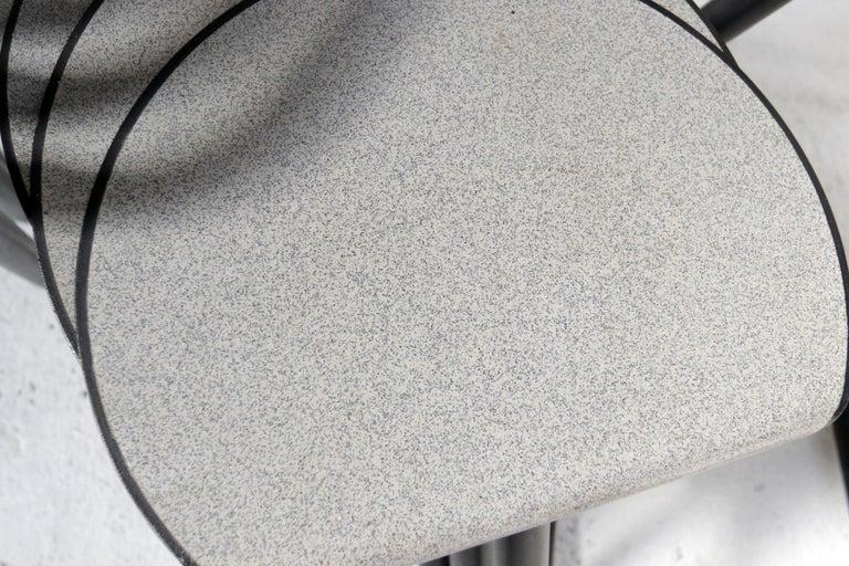 Steel Set of Eighteen Erik Magnussen 'Magnus' Chairs for Paustian Stackable For Sale
