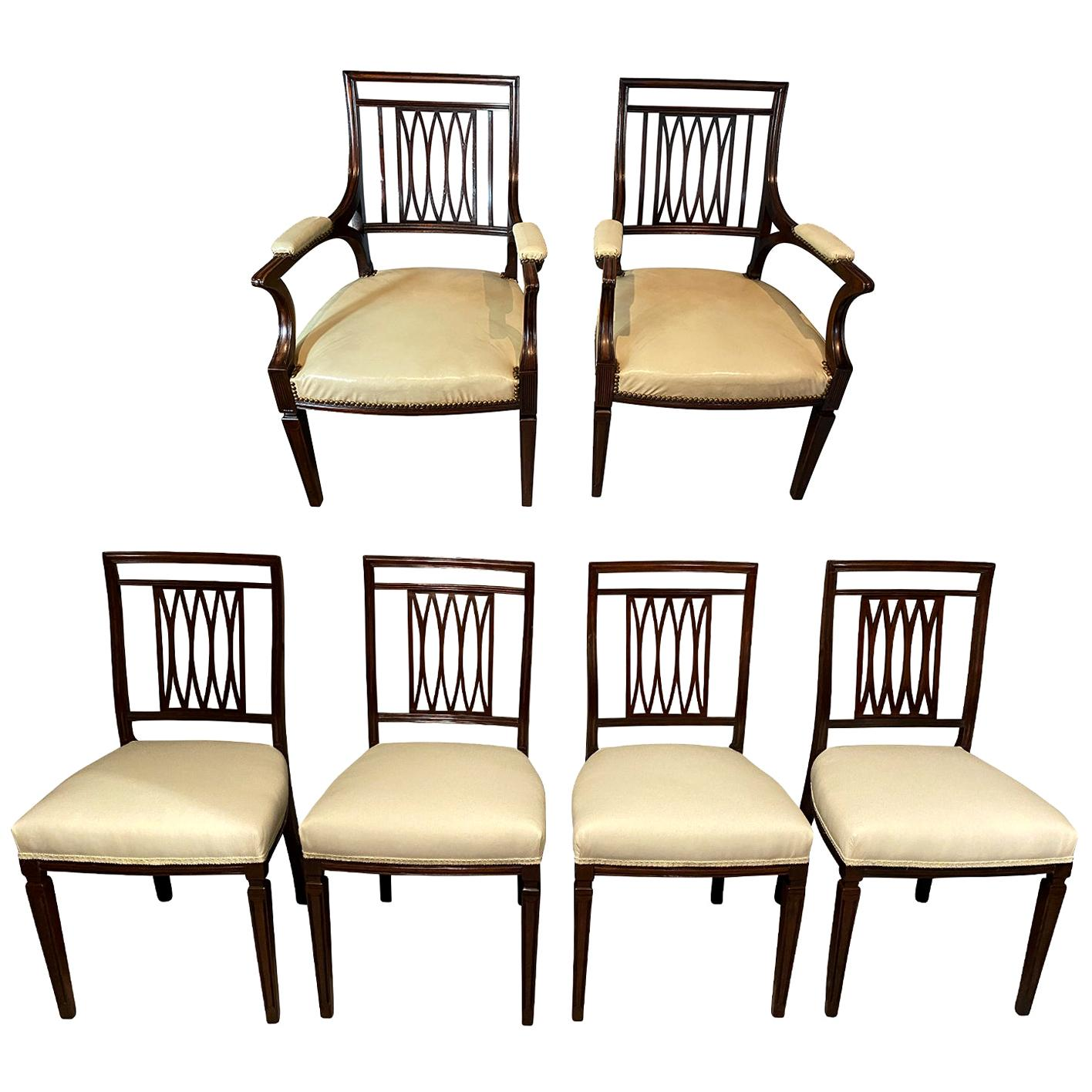 Set of Eighteen George III Style Mahogany Dining Chairs