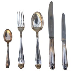 Set of Elegant French Art Deco Silver Tableware