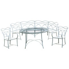 Set of Elegant Wrought-Iron Dining Furniture