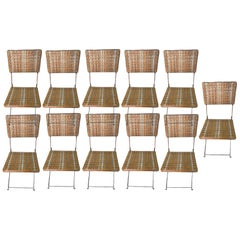 Set of Eleven Folding Winter Garden Chairs, circa 1900