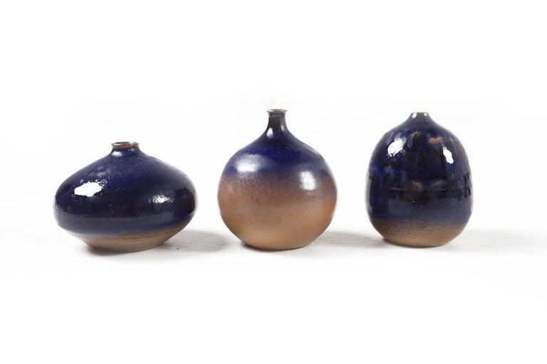 Ceramic Set of Eleven Vases by Antonio Lampecco, Belgium, circa 1980 For Sale