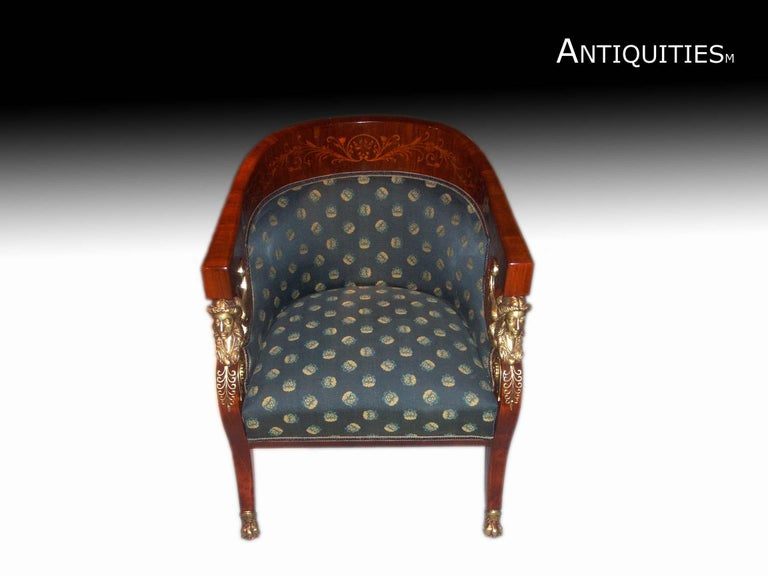 20th Century Set of Empire Chairs and Loveseat For Sale