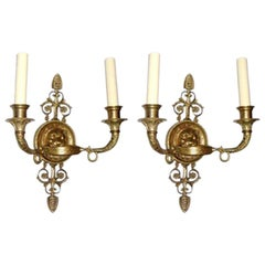 Set of Empire Style Sconces, Sold Per Pair