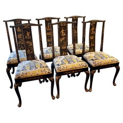 Set of English 19th Century Chinoiserie Side Chairs