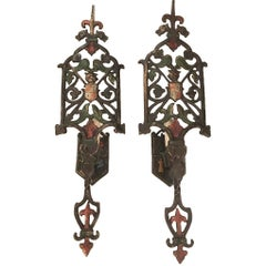 Set of English Hammered Iron Sconces, Sold in Pairs