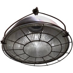 Set of English Holophane Glass Light Fixtures, Sold Individually