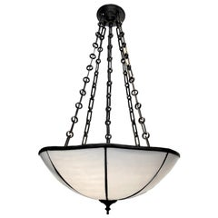 Set of English Leaded Glass Light Fixtures, Sold Individually