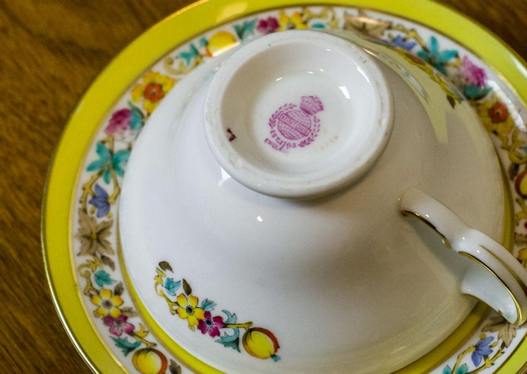 Set of English Mintons Cups, circa 1929 For Sale 5