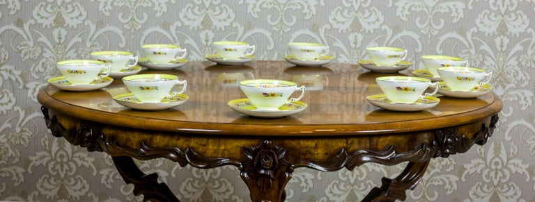 Set of English Mintons Cups, circa 1929 In Good Condition For Sale In Opole, PL