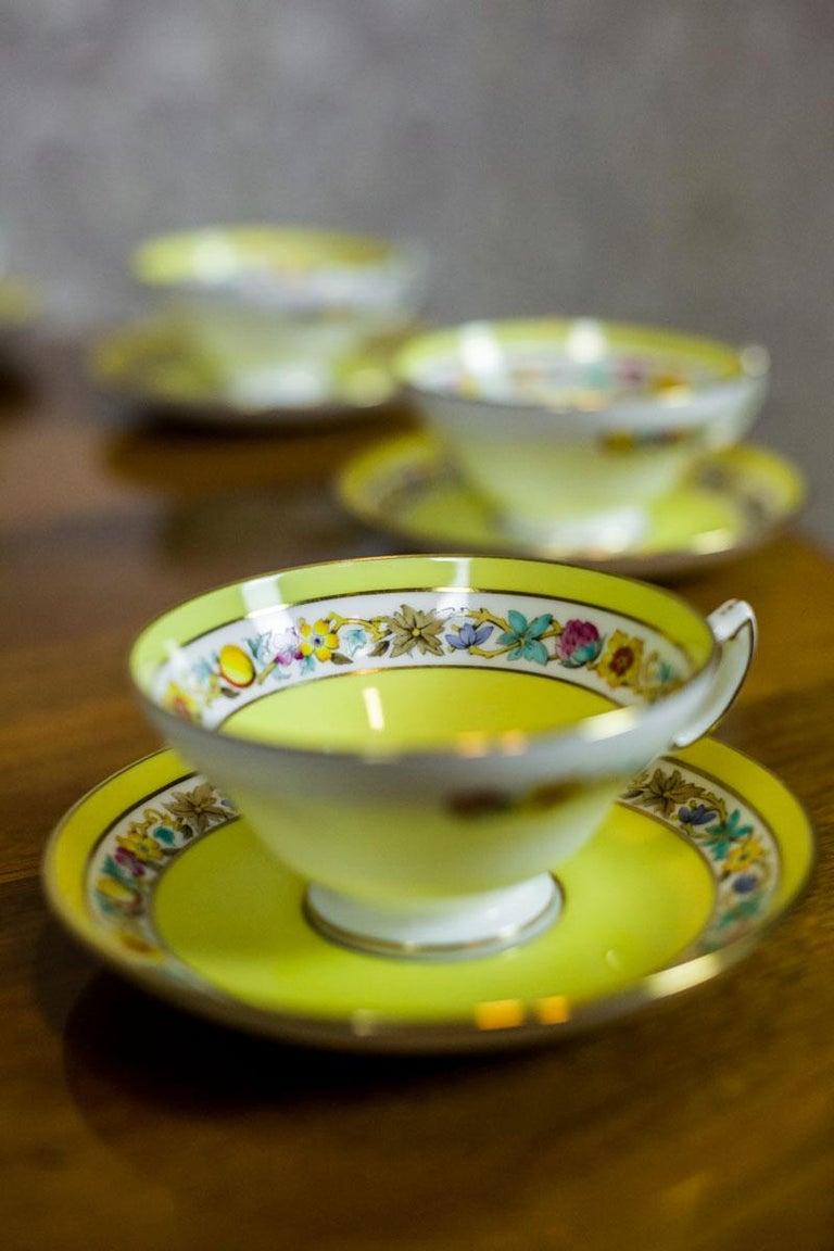 Set of English Mintons Cups, circa 1929 For Sale 2