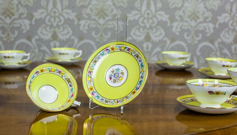 Set of English Mintons Cups, circa 1929 For Sale 3