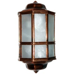 Set of English Patinated Copper Sconces, Sold in Pairs