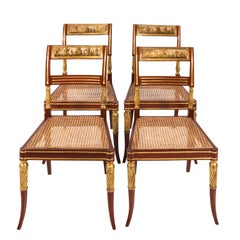 Set of English Regency Side Chairs