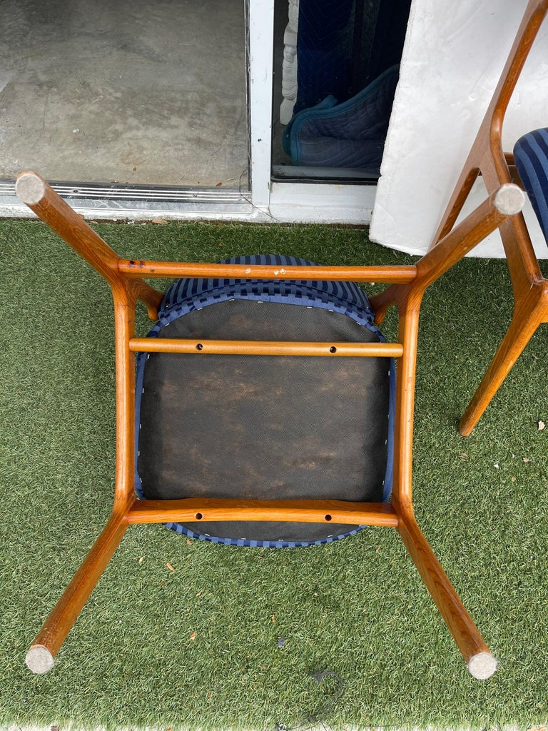 Danish Set of Erik Buch Teak Dining Chairs for O.D. Mobler For Sale