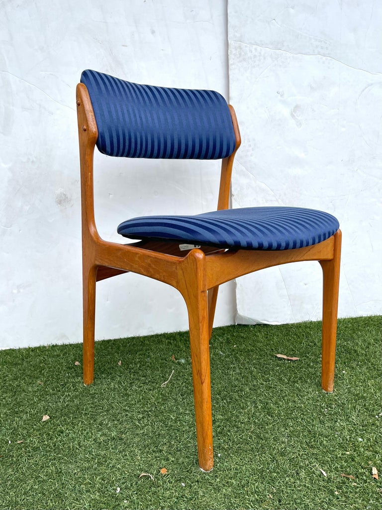 20th Century Set of Erik Buch Teak Dining Chairs for O.D. Mobler For Sale