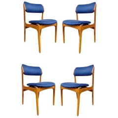Set of Erik Buch Teak Dining Chairs for O.D. Mobler