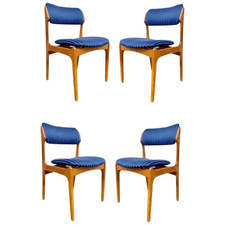Set of Erik Buch Teak Dining Chairs for O.D. Mobler For Sale