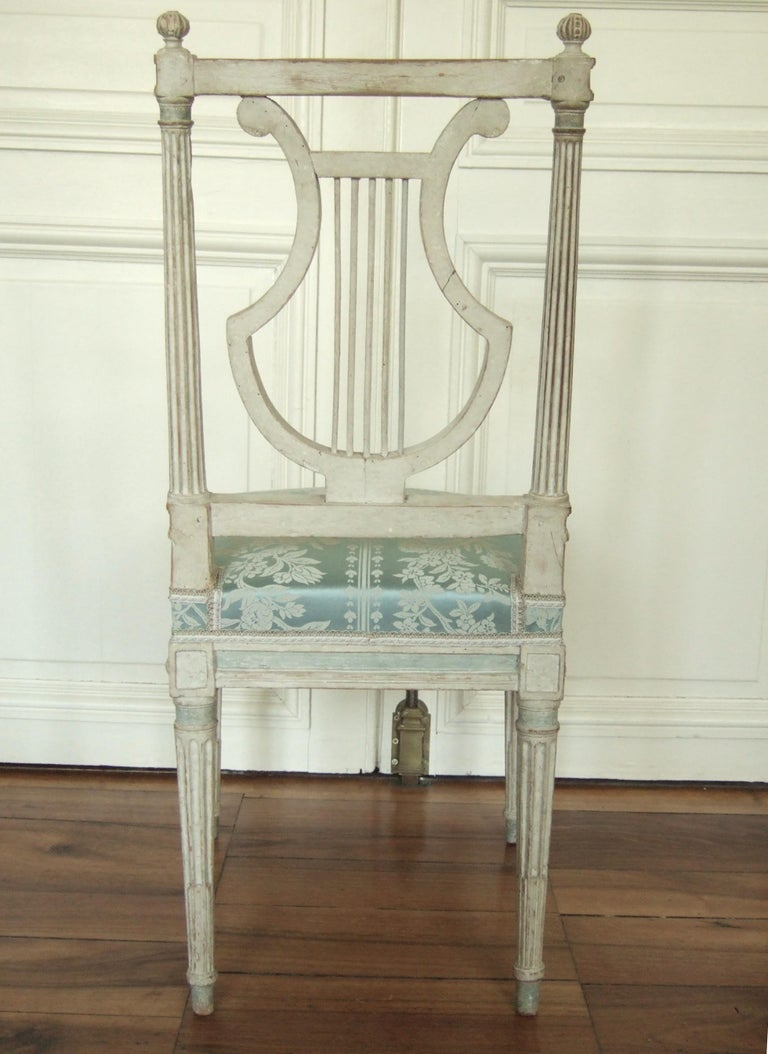 Set of Original Jacob Model Chairs Lyre of Louis XVI, Late 18th Century, France In Good Condition For Sale In Paris, France
