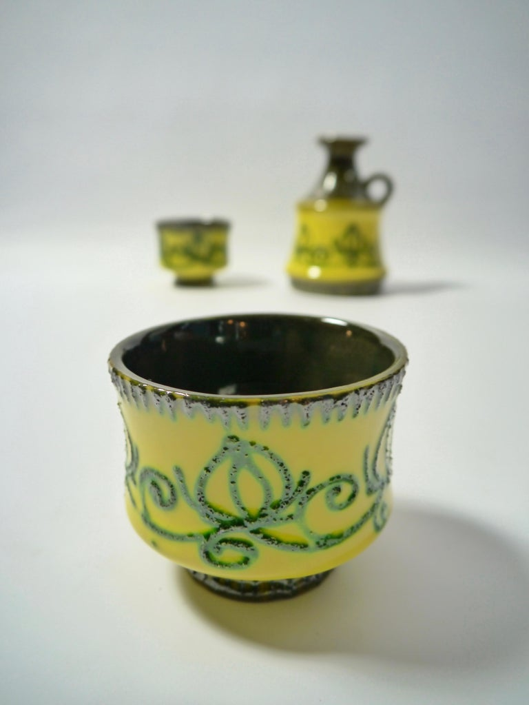Set of Fat Lava Ceramics by Strehla, East Germany, 1960s In Good Condition For Sale In Barcelona, ES