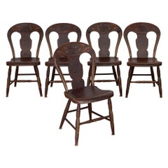 Set of Federal Period Pennsylvania Painted Chairs, circa 1810