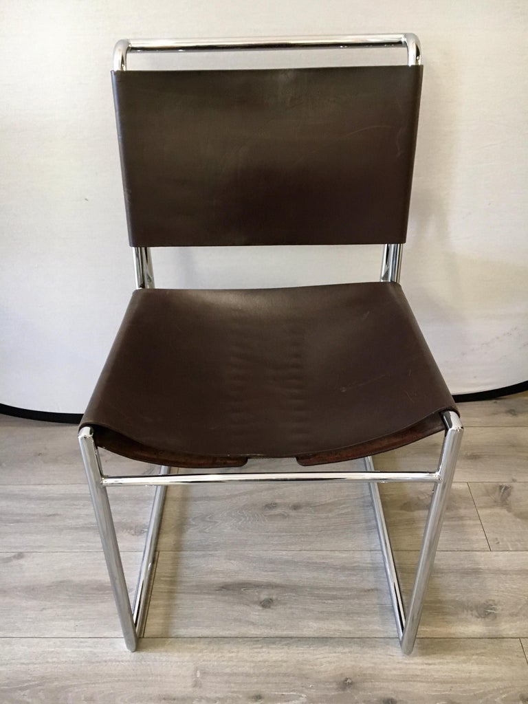 Set Of Fifty Matching Marcel Breuer B40 Brown Leather With