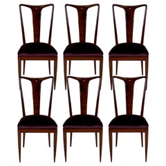 Set of Fine Dining Chairs in the Style of Guglielmo Ulrich
